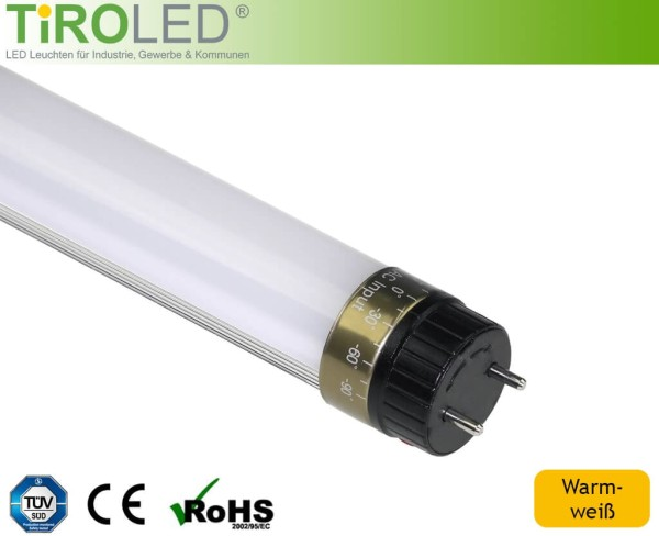 "60 cm LED Röhre | warmweiß - 3000 K | 10 Watt | 800 lm | ""Pro"" by Tiroled"
