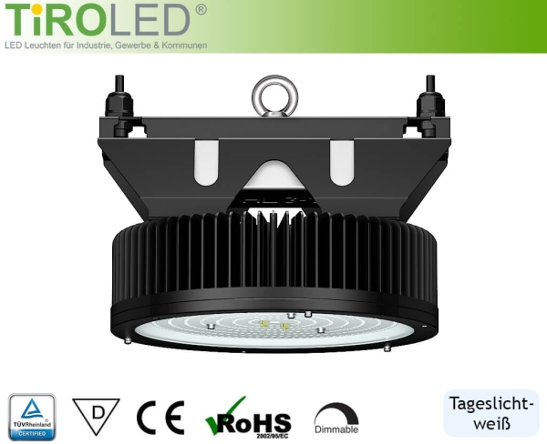 "320 Watt LED Hallenleuchte | 120° Abstrahlwinkel | 51200 lm | 5700 K | IP65 | ""Stratos"" by Tiroled"