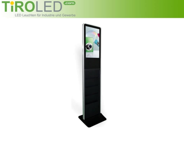 "21,5 Zoll Digital Signage mit Prospekthalter | Full HD Touchscreen | Android | ""Stella Touch 2"""
