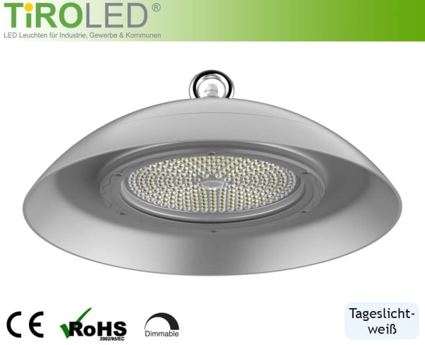 "150 Watt LED Hallenleuchte | 120° Abstrahlwinkel | 19500 lm | 5000 K | IP66 | NFS | ""Clean Plus"" by Tiroled"