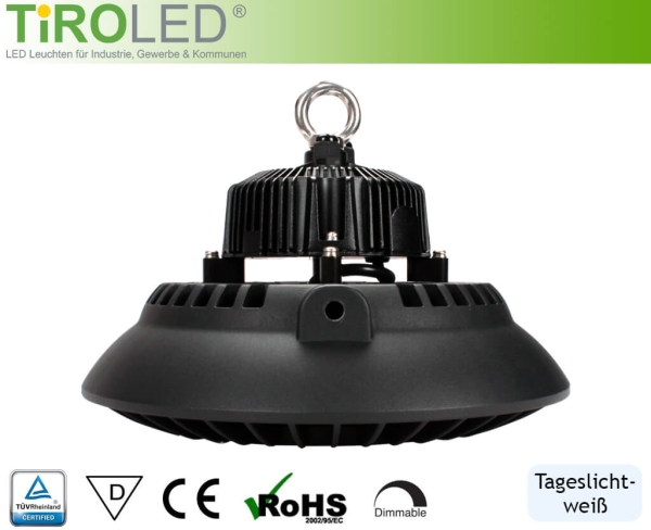 "100 Watt LED Hallenleuchte | 120° Abstrahlwinkel | 14000 lm | 6000 K | IP65 | ""Taurus"" by Tiroled"