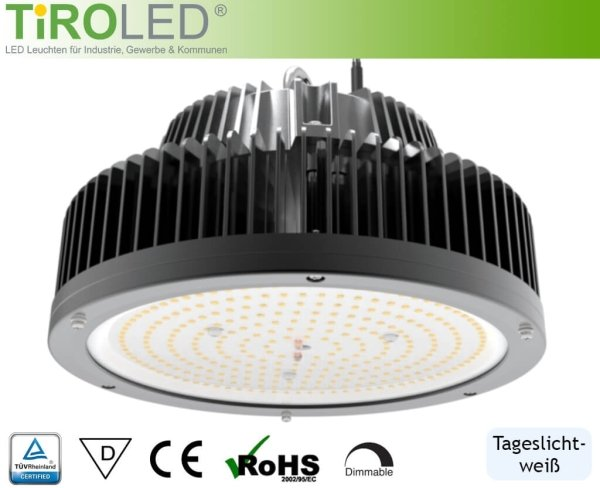 "150 Watt LED Hallenleuchte | 120° Abstrahlwinkel | 22500 lm | 5700 K | IP65 | ""Stratos"" by Tiroled"